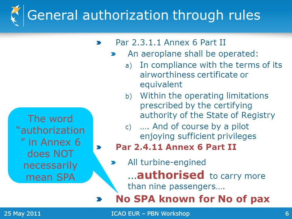 General authorization through rules