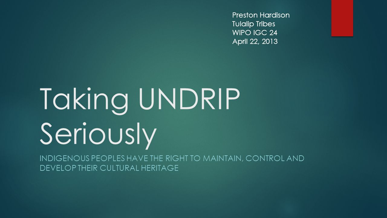 Taking UNDRIP Seriously