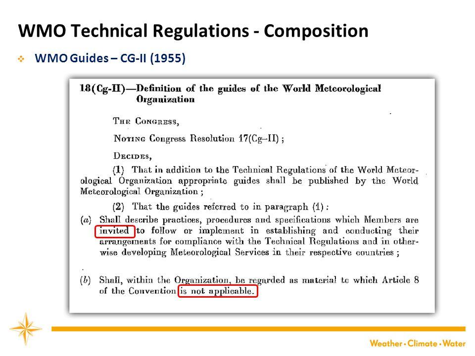 WMO Technical Regulations - Composition