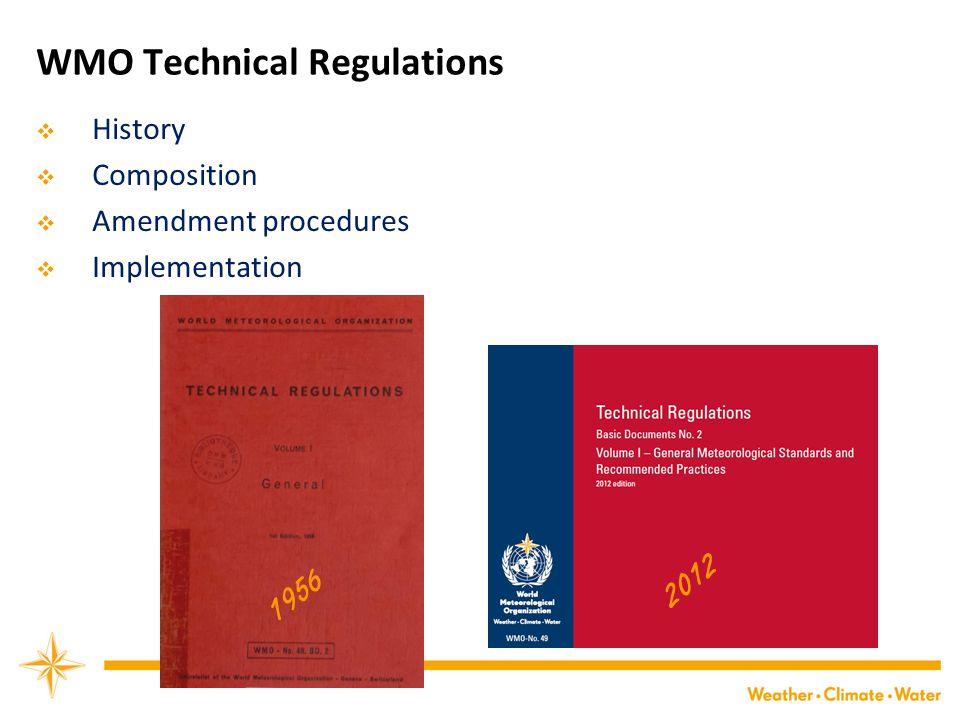 WMO Technical Regulations
