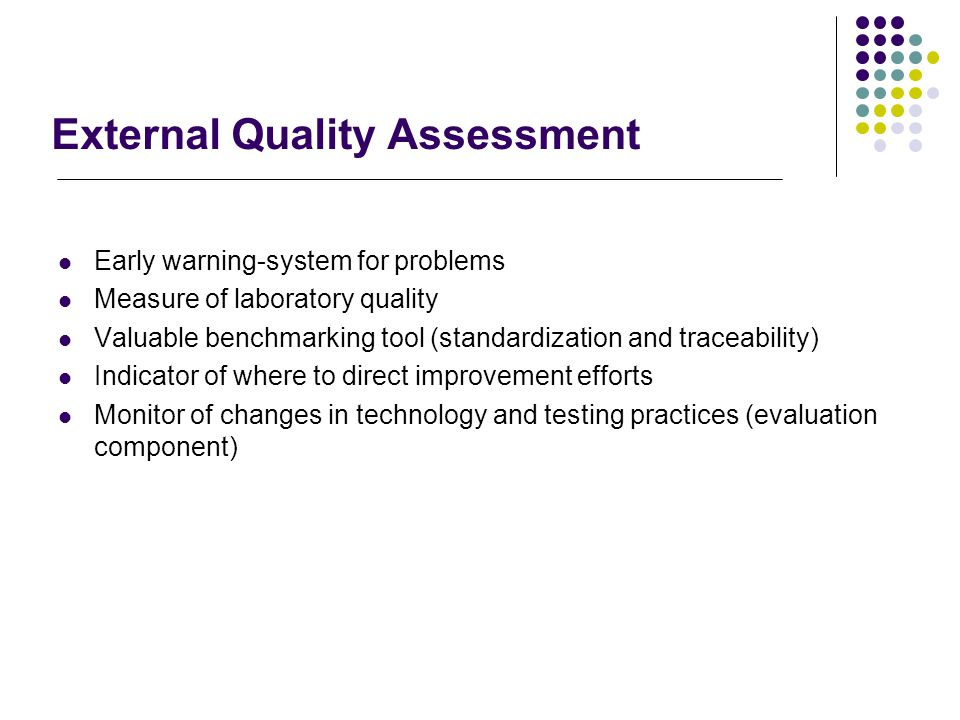 External Quality Assessment