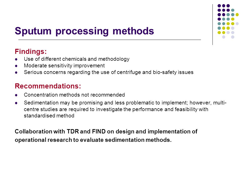 Sputum processing methods