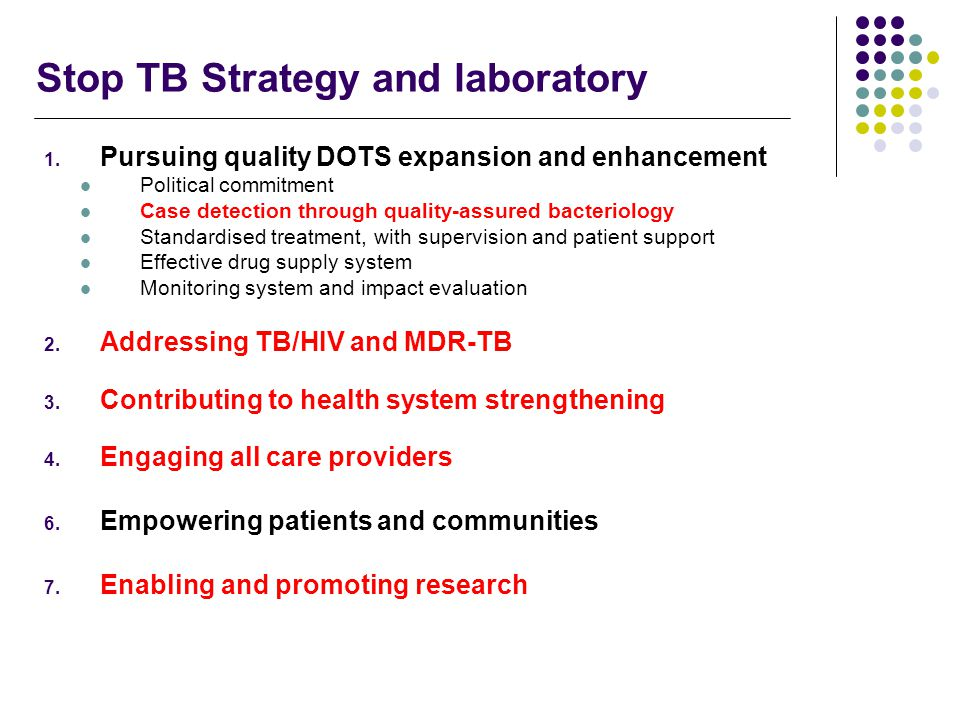 Stop TB Strategy and laboratory