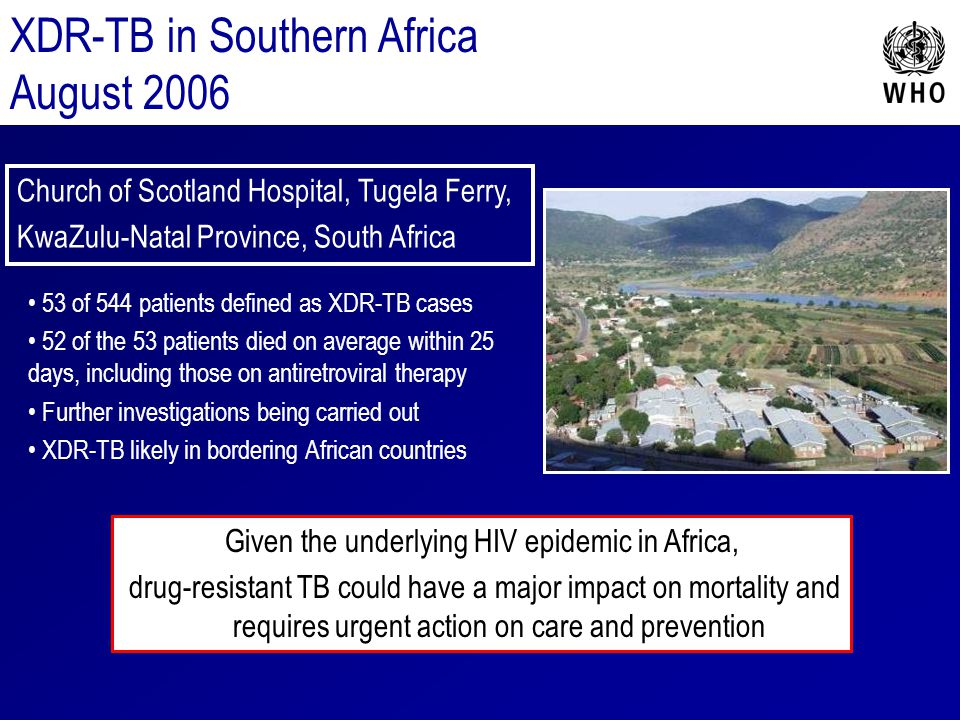 Given the underlying HIV epidemic in Africa,