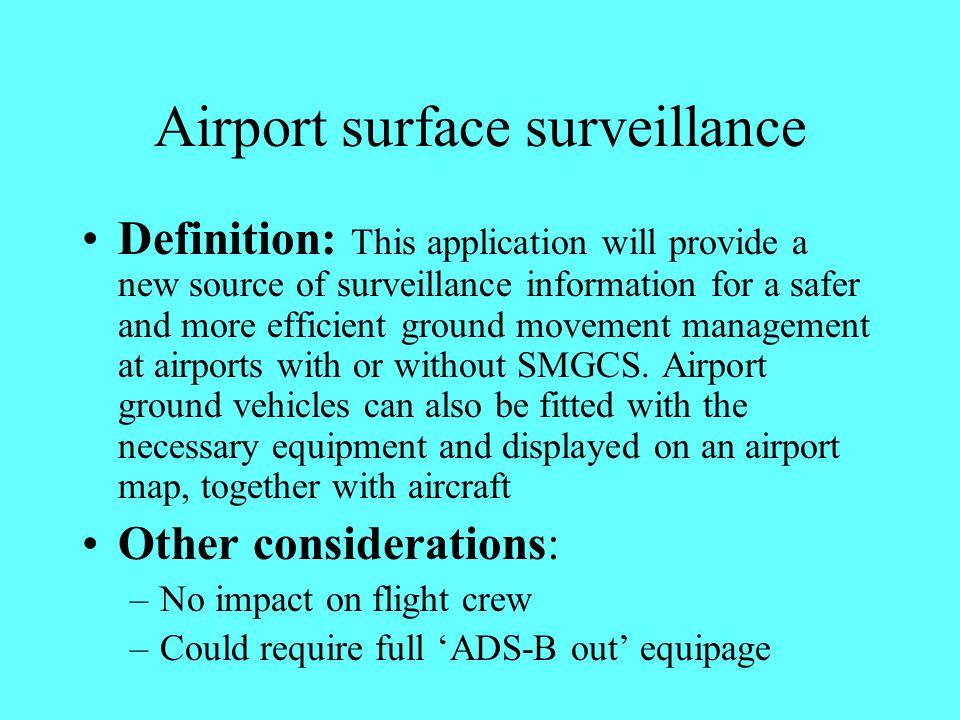 Airport surface surveillance