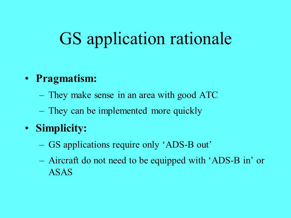 GS application rationale