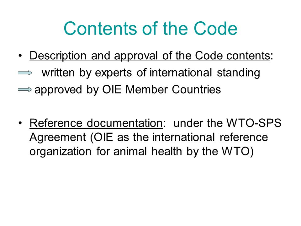 Contents of the Code Description and approval of the Code contents: