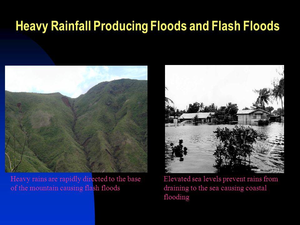 Heavy Rainfall Producing Floods and Flash Floods