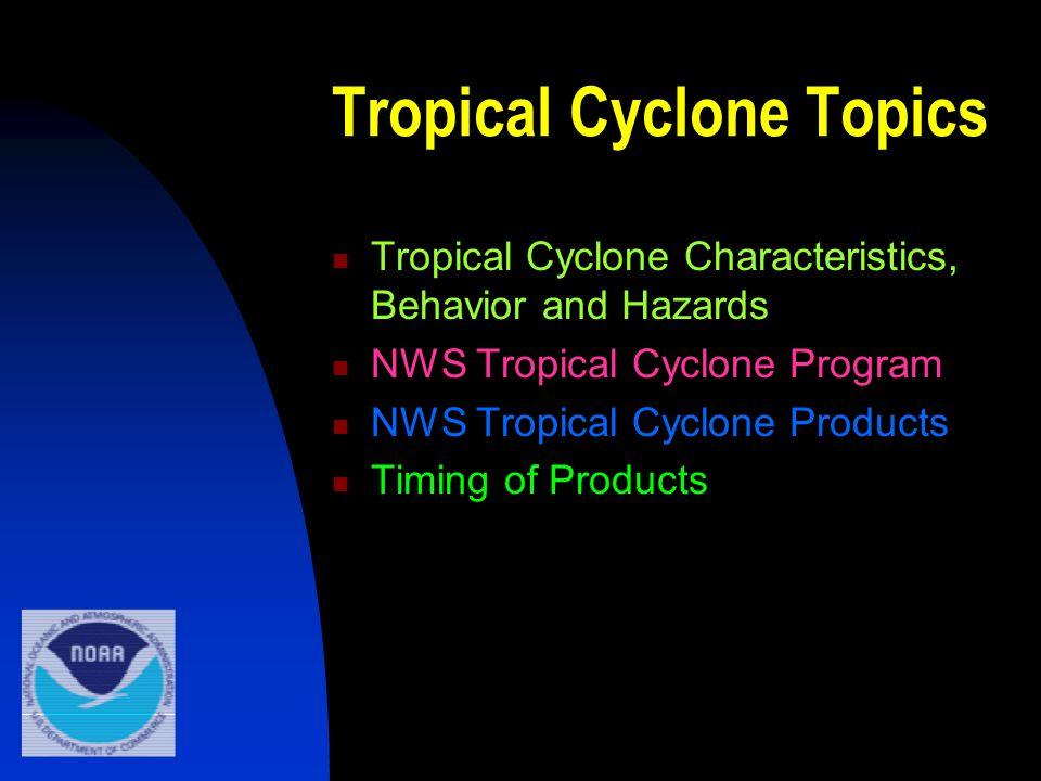 Tropical Cyclone Topics