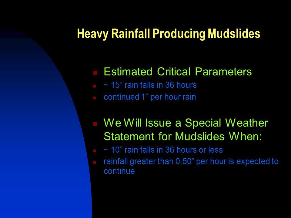 Heavy Rainfall Producing Mudslides