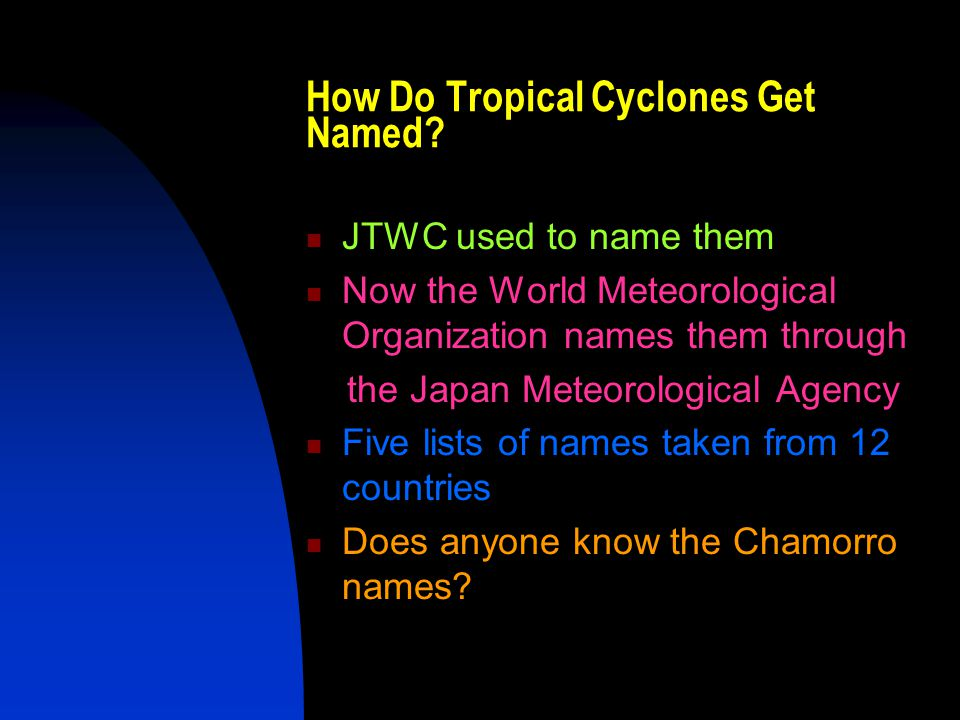 How Do Tropical Cyclones Get Named