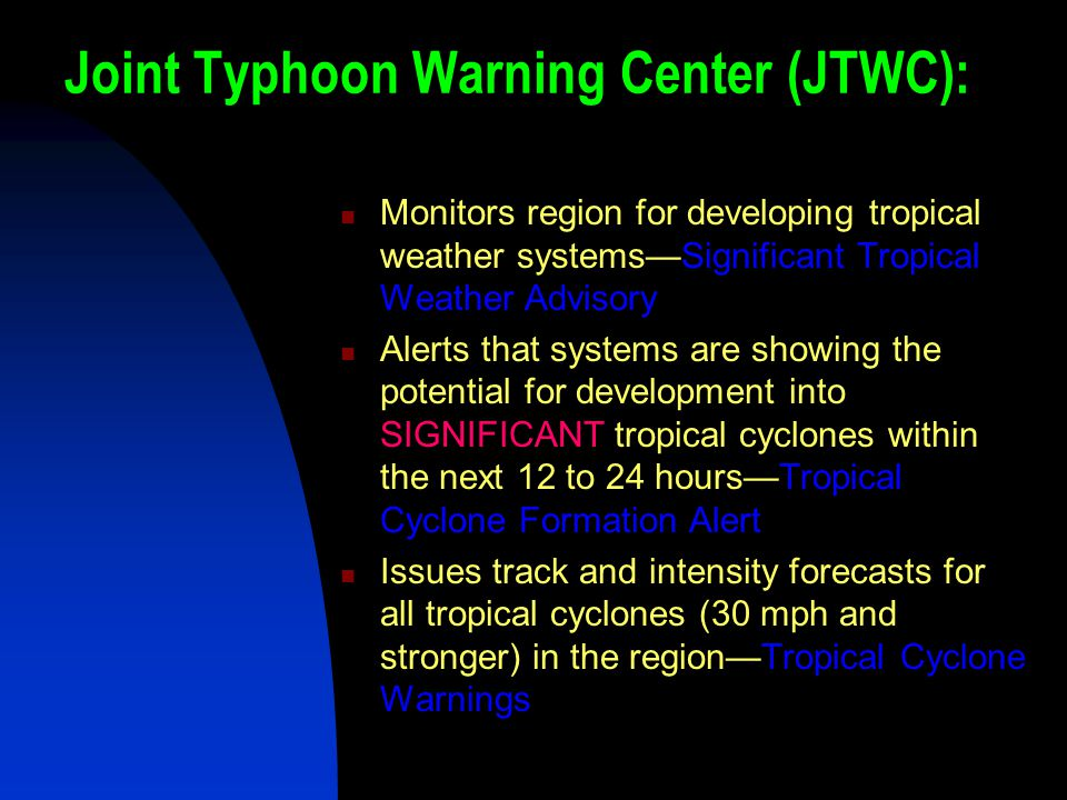 Joint Typhoon Warning Center (JTWC):