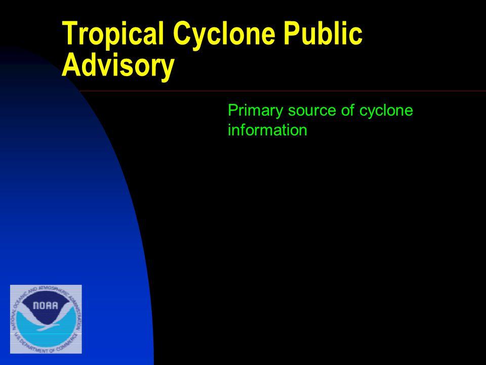 Tropical Cyclone Public Advisory