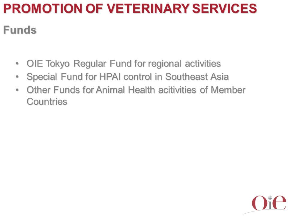 PROMOTION OF VETERINARY SERVICES