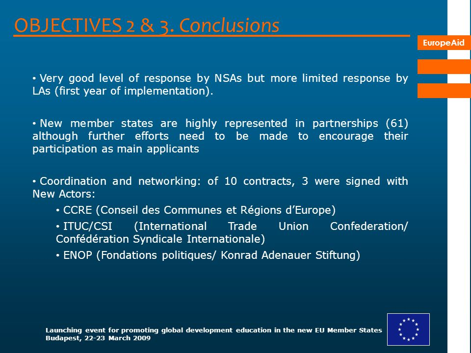OBJECTIVES 2 & 3. Conclusions