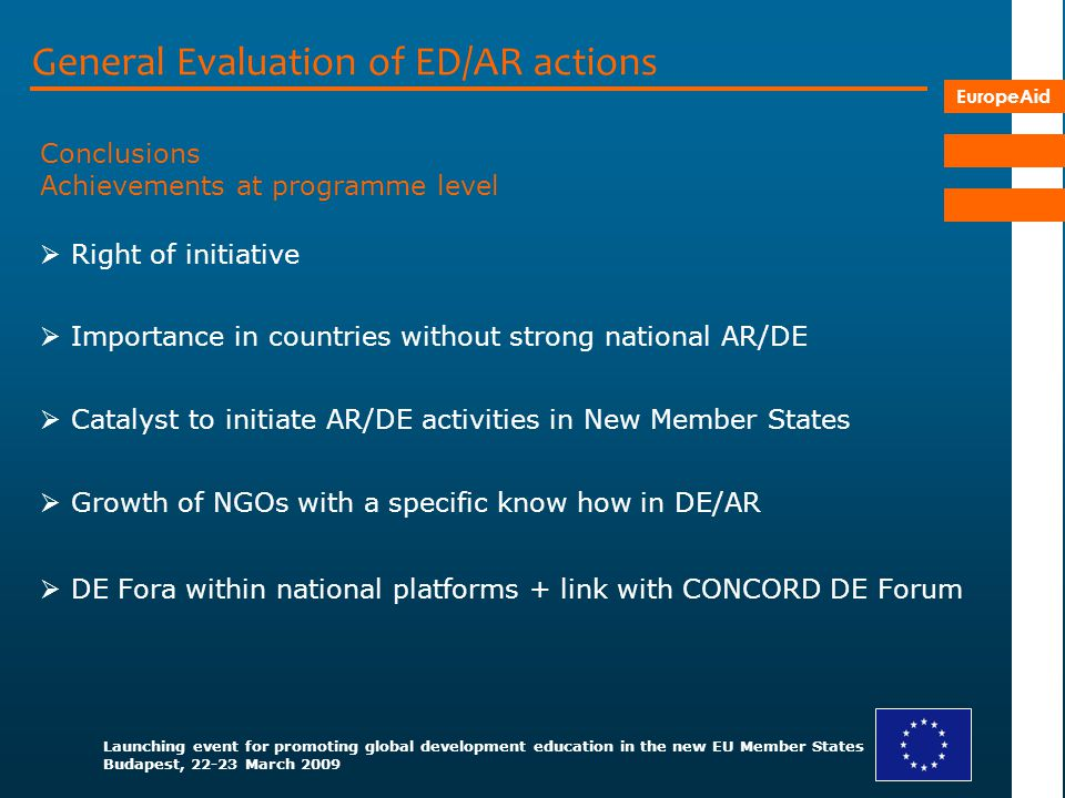 General Evaluation of ED/AR actions