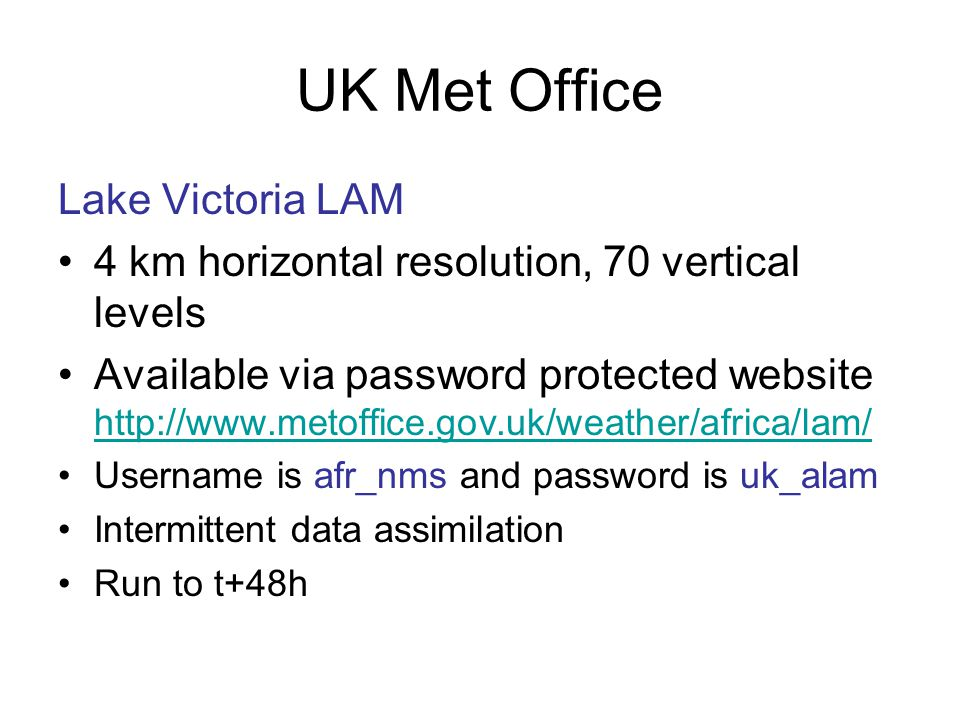 UK Met Office Lake Victoria LAM