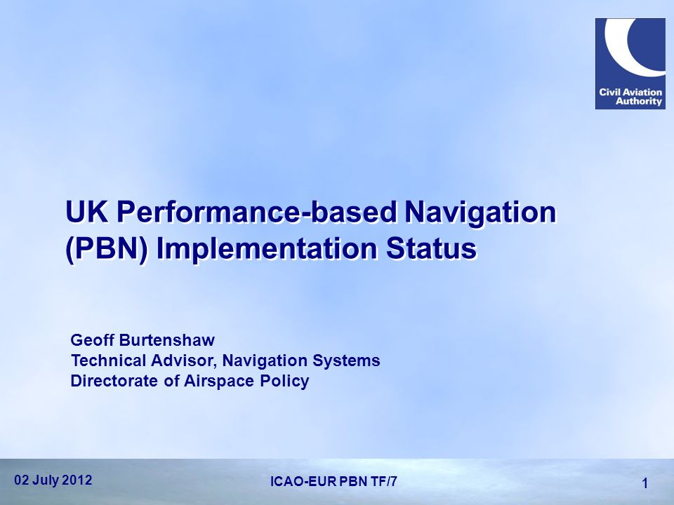 UK Performance-based Navigation (PBN) Implementation Status