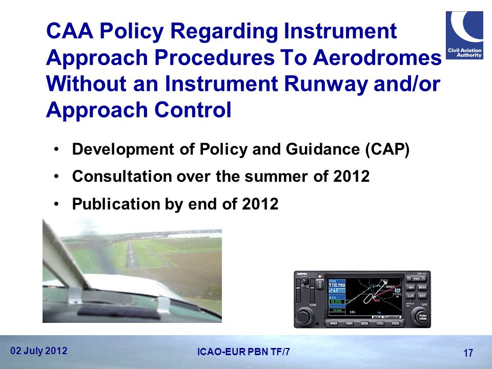 CAA Policy Regarding Instrument Approach Procedures To Aerodromes Without an Instrument Runway and/or Approach Control