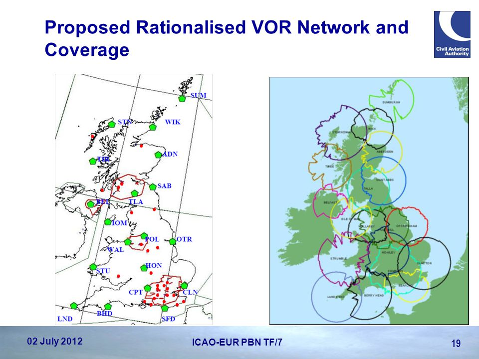 Proposed Rationalised VOR Network and Coverage