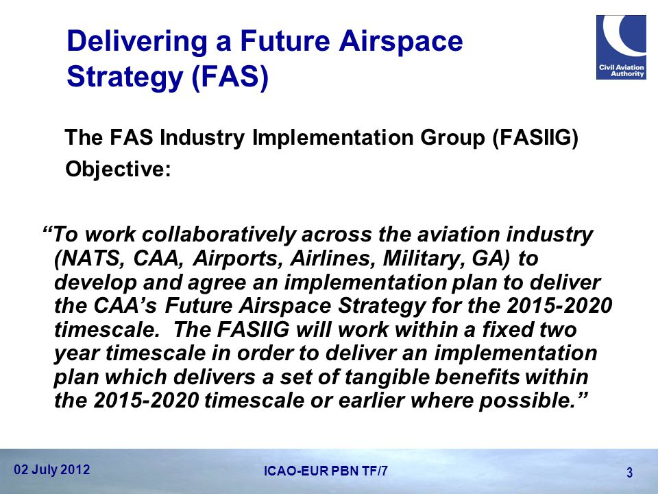 Delivering a Future Airspace Strategy (FAS)