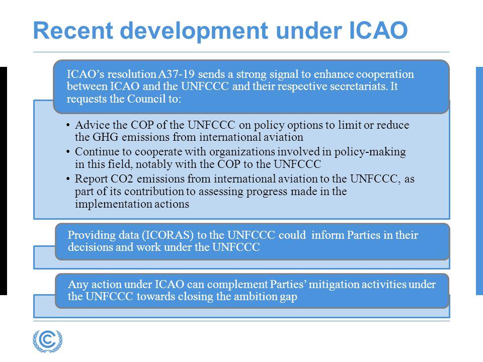 Recent development under ICAO
