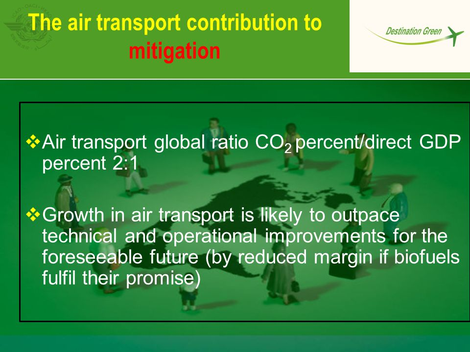 The air transport contribution to mitigation