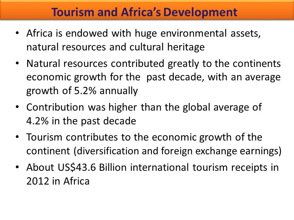 Tourism and Africa's Development