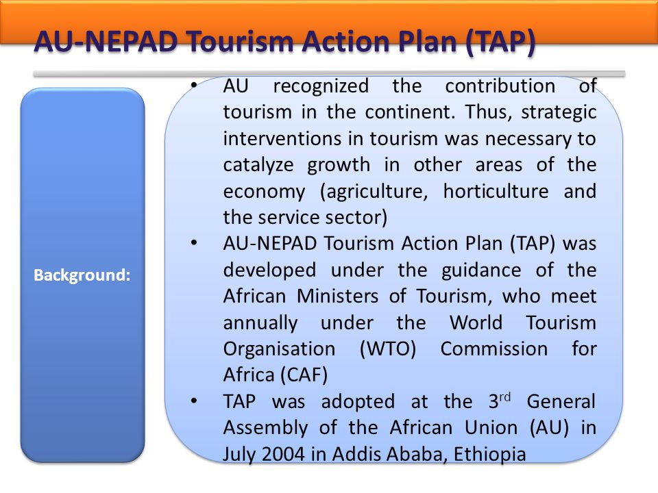AU-NEPAD Tourism Action Plan (TAP)