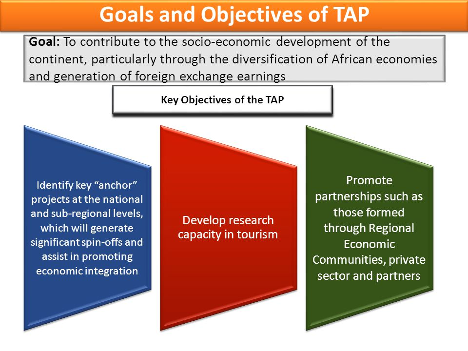 Goals and Objectives of TAP