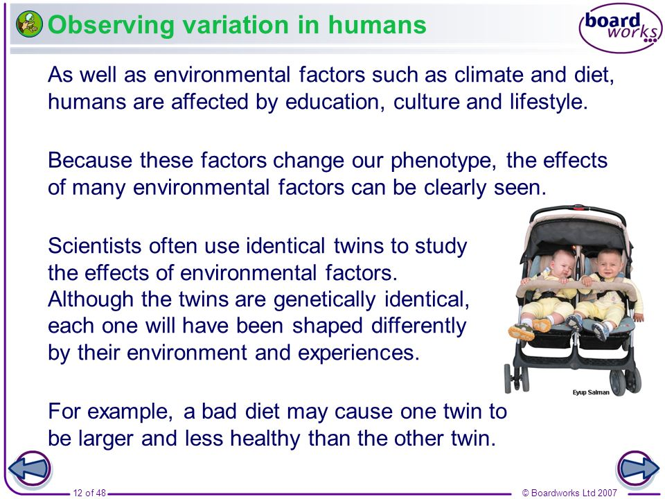 Observing variation in humans