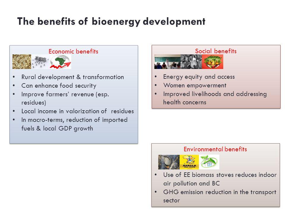 The benefits of bioenergy development