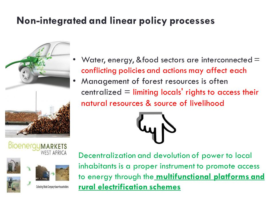 Non-integrated and linear policy processes