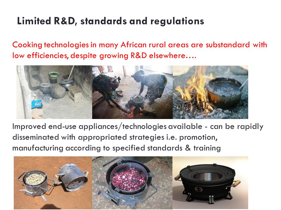 Limited R&D, standards and regulations