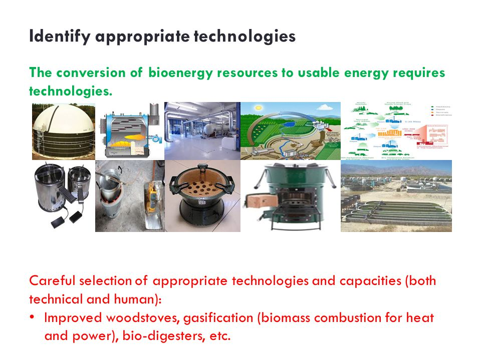 Identify appropriate technologies