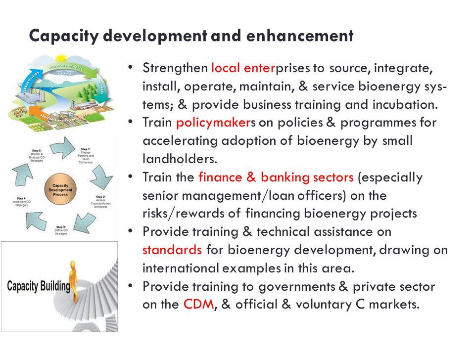 Capacity development and enhancement