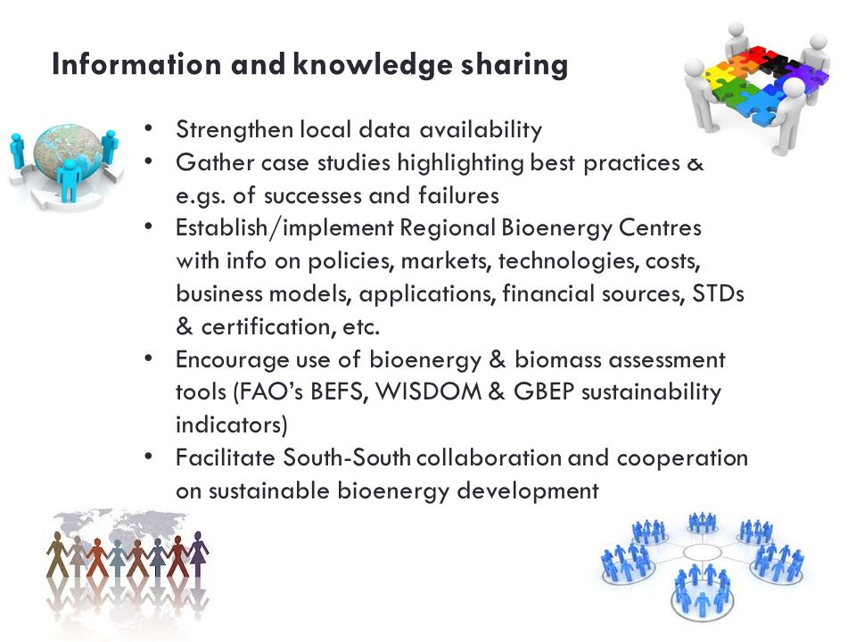 Information and knowledge sharing