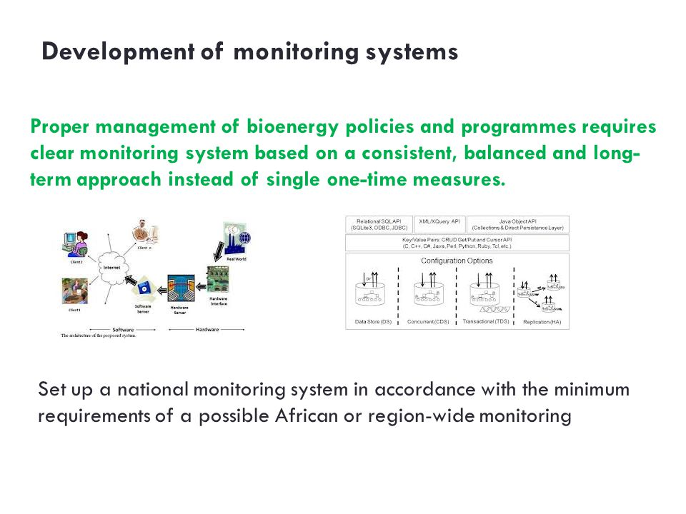 Development of monitoring systems