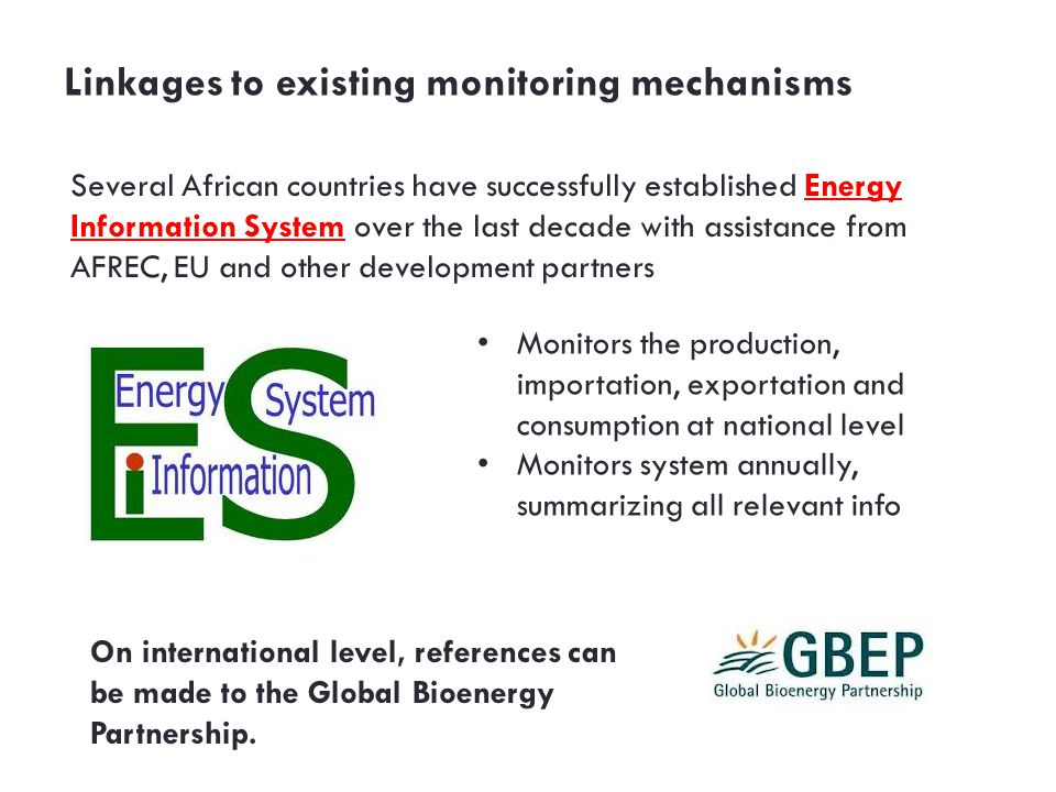 Linkages to existing monitoring mechanisms