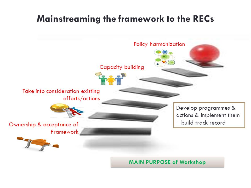 Mainstreaming the framework to the RECs