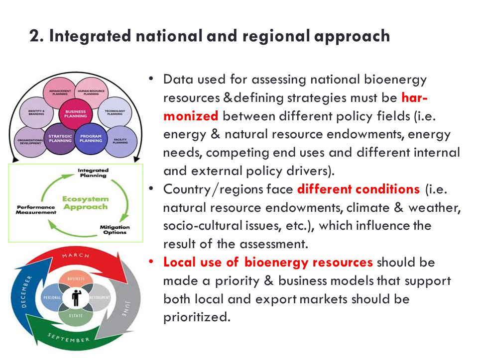 2. Integrated national and regional approach