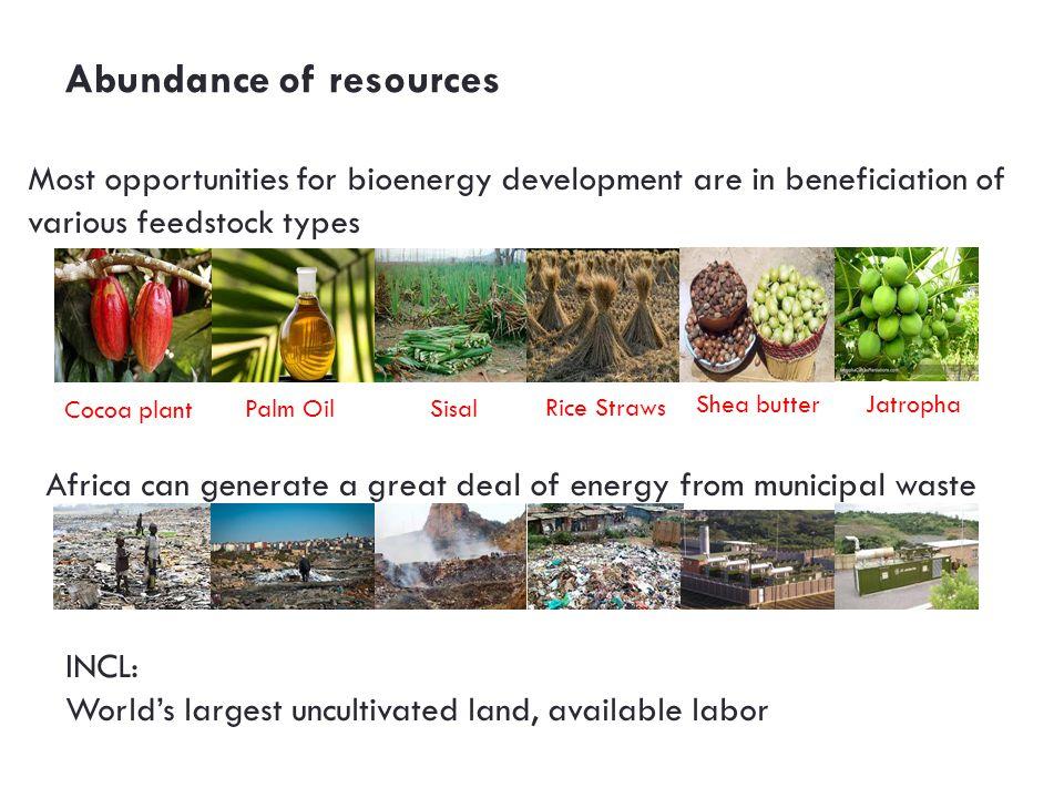 Abundance of resources