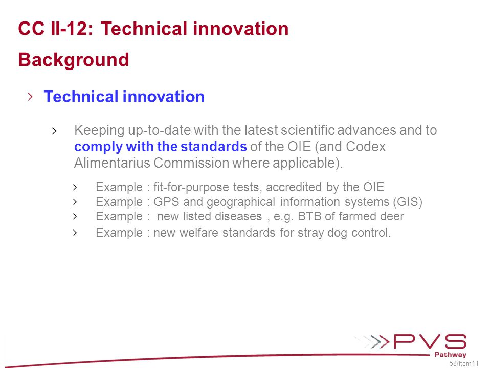 CC II-12: Technical innovation Background