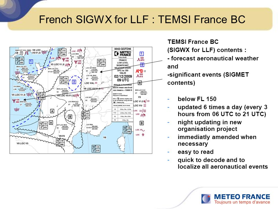 French SIGWX for LLF : TEMSI France BC