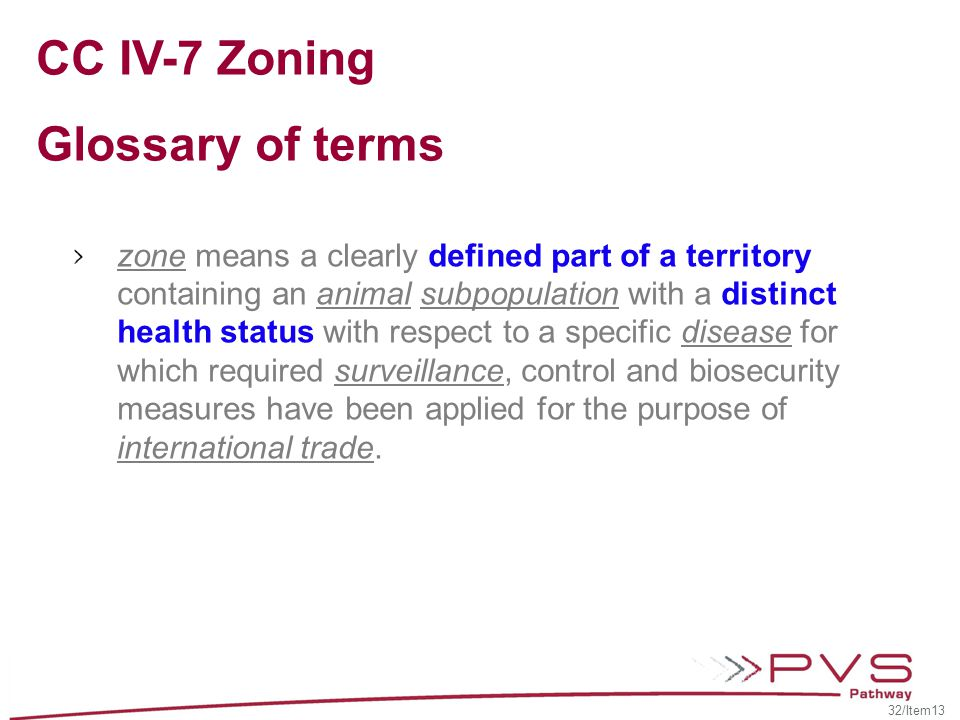 CC IV-7 Zoning Glossary of terms