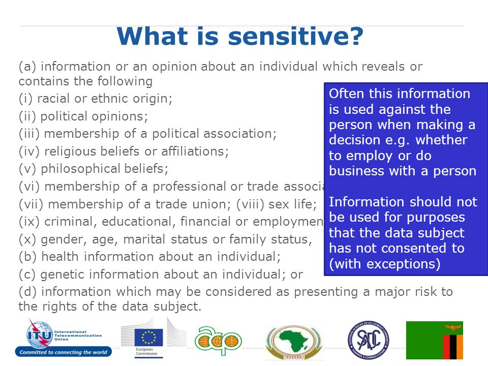 What is sensitive