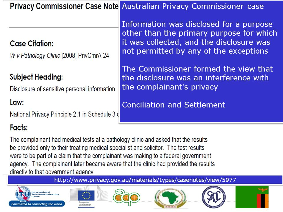 Australian Privacy Commissioner case