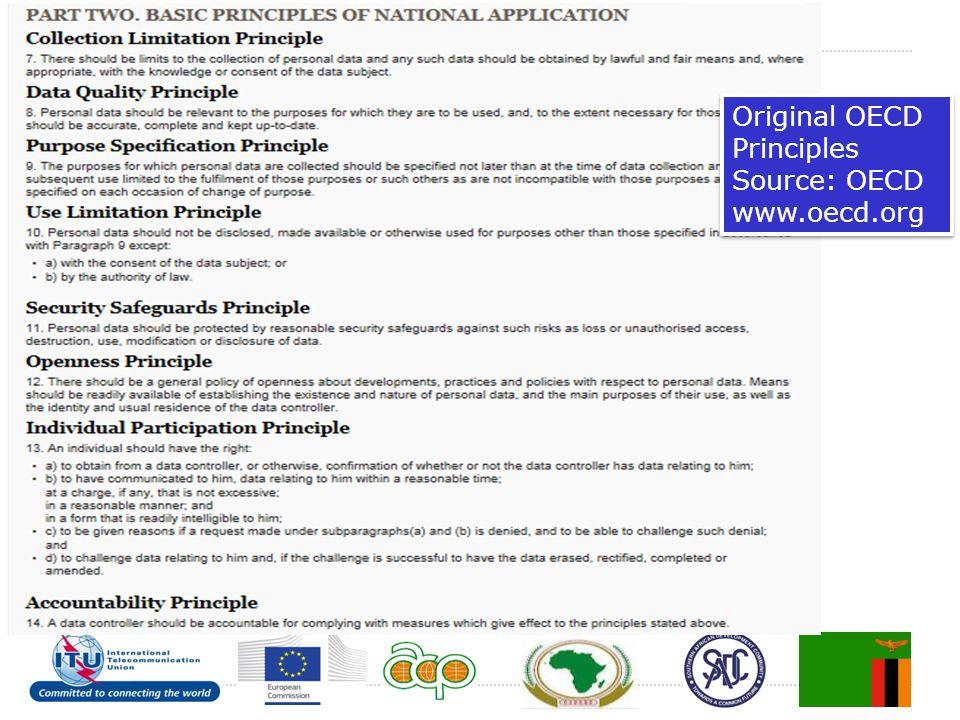 Original OECD Principles