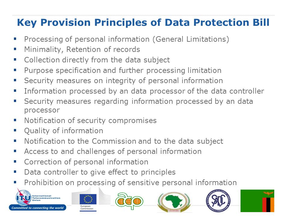 Key Provision Principles of Data Protection Bill