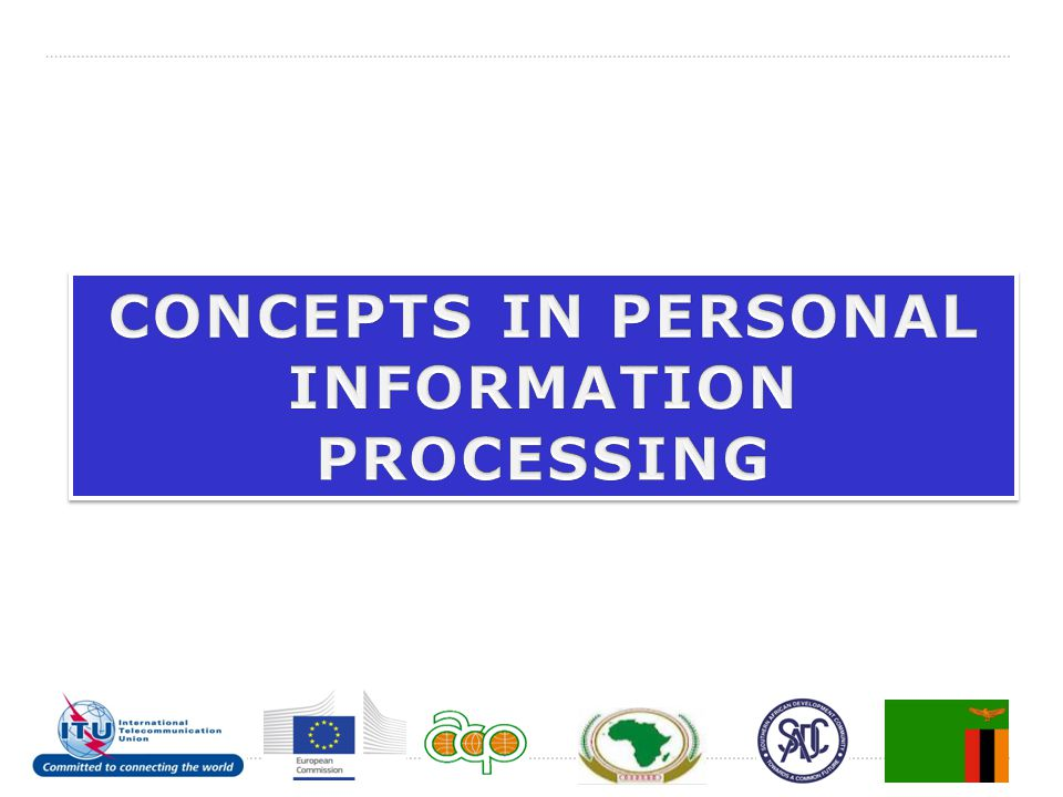 CONCEPTS IN PERSONAL INFORMATION PROCESSING